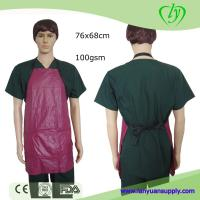 China PVC Kitchen Cooking Apron with 3 Pockets in Red or Black Color/Cooking Apron/Apron on sale