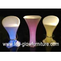 Quality High bright RGB Garden Bar cafes lighted cocktail tables with Switch , Remote Control for sale