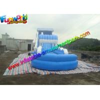 Buy 0.55mm PVC Tarpaulin Blue Commercial Grade Inflatable Water Slide for Adult at wholesale prices