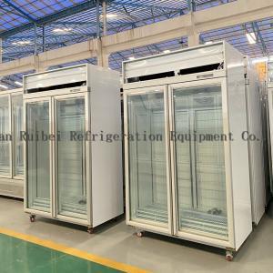 Quality R290 Supermarket Upright Refrigerated Showcase Freezer for sale