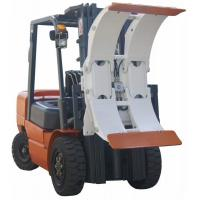 Quality White Forklift Truck Attachments Paper Roll Clamp With High Performance Hose for sale