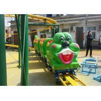 Green Worm Shape Kiddie Roller Coaster For Large Parks And Tourist Attractions