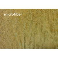 Quality Microfiber 550gsm Yellow 150cm Width 100% Polyester Small Chenille Fabric for sale