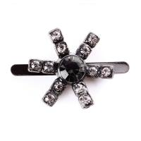 Quality Small Vintage Rhinestone Shoe Clips 17mm Kirsite Material For Decorating for sale
