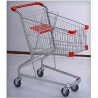 Quality PU Wheeled Grocery Shopping Trolley Powder Plated Climb Stairs Hand Cart for sale