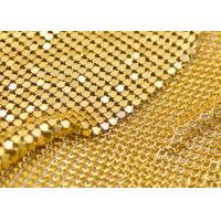 Quality Shining Aluminum Mesh Fabric , Silver Mesh Fabric For Window / Wall Ceiling for sale