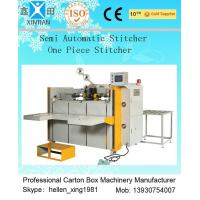 Quality High Speed Semi Automatic Carton Folding and Stitching Machine 400nails/min for sale