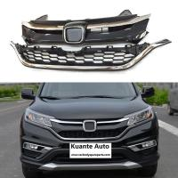 Quality Upper + Lower Chrome Front and Bumper Grille Set For Honda CRV CR-V 2015-2016 for sale