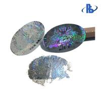 China One Time Use Holographic Security Labels Moisture Proof With Serial Number on sale