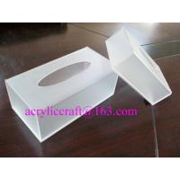 Quality Plexiglass / PMMA / Acrylic Tissue Box For Hotel And Home Made In China for sale