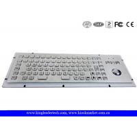 Quality Brushed Metal Kiosk Stainless Steel Panel Mount Keyboard With Optical Trackball And FN Keys for sale