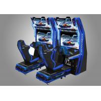 Quality Car Race Force Feedback Steering Racing Simulator Game Machine With 14 Cars Unlocked for sale