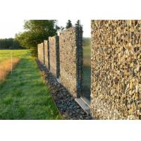 China Decorative Gabion Baskets For Gardens , Green Gabion Fences Wall for Landscape on sale