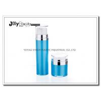 Quality Cap Transparent The Bottle In The Blue Section Plating Silver Airless Pump Bottles for sale