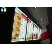 Buy Snap Frame Illuminated Menu Boards Lightbox Menu Display A0 - A4 Size at wholesale prices