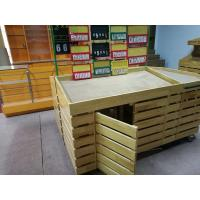 Quality Supermarket Wooden Display Rack for Fruit And Vegetable Display for sale