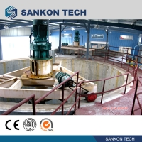 Quality Screw Connection 50m3 Mixer AAC Brick Making Machine/Waste Slurry Mixer for sale