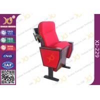 Quality Wooden Structure Polyurethane Foam Auditorium Chairs With Luxury Folding Table for sale