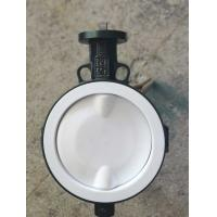 China White And Blue  PTFE lined butterfly valve ,  Ptfe Seat Butterfly Valve   Headless  Type DN40 - DN150 Size Customized on sale