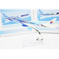 China Malaysia Airlines Passenger Toys Airplane Model Kits Fancy Metal Antique on sale