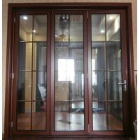 Thermal Break Entrance Aluminum Folding Glass Door Accordion Sliding