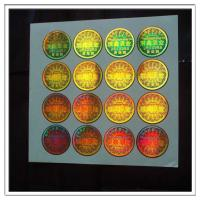 Quality Gold background security hologram stickers made in guangzhou , custom high quality holographic stickers for sale