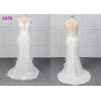 Quality Strapless Luxury A Line Ball Gown Wedding Dress , White Ball Gown Dress for sale