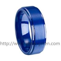 blue ceramic ring