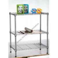 Quality Adjustable Steel Wire Shelving With Coated Customizable Tires 800bls For Storage for sale