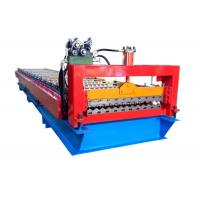 Quality Color Steel Roofing Sheet Corrugated Shape Roll Forming Machine With PLC Control System for sale