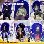 Quality Funny Games Amusement Park Equipment 9d VR Simulator 220V Electric System for sale