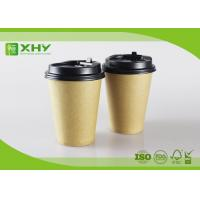 Quality 12oz 400ml FDA Certificated Eco-friendly Plain Kraft Brown Single Wall Paper Cups with Lids for sale