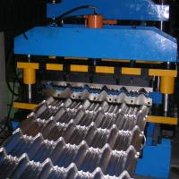 Quality Metal Glazed Tile Cold Forming Machine Use Imported Delta PLC Full Automatic Control Length Cutting for sale
