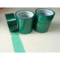 Quality Silicone PET Green film adhesive tape for powder coating for sale