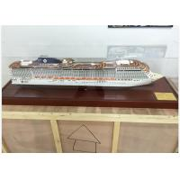 Ivory White MSC Splendida Cruise Ship Model Speed Boats With ABS Hand Carving