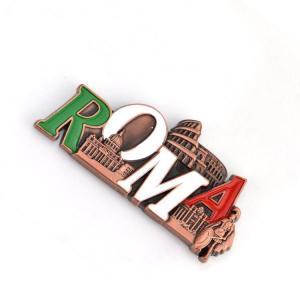 China Souvenir Custom Promotional Items , Metal Refrigerator Magnet Antique Imitation on sale