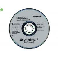 Quality Original Win 10 Pro OEM Key DVD With Key Card 32 / 64 Bits Offical Blue Retail Box for sale