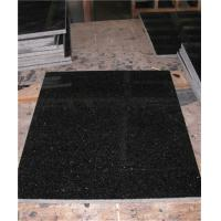 Quality Polished Black Granite Floor Tiles Customized Size CE Certification for sale