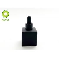 China 30ML Empty Cosmetic Glass Bottle With Dropper , Frosted Glass Dropper Bottle on sale
