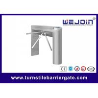 Quality Automatic Pedestrian Access Control Turnstile Gate Waist High 304 Stainless Steel for sale