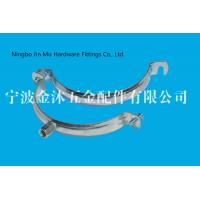 China M8 / M10  Hole Metal Tube Clamps With Electro Galvanized Surface , Bandwidth 20mm on sale