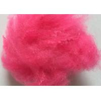 Quality Red Solid PSF Polyester Staple Fiber 1.4D X 38MM Resistance To Friction for sale