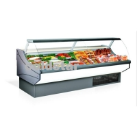 Quality Square Type Deli Display Refrigerator Fresh Meat Fish Chiller for sale