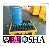 China Oil Drum Spill Pallet Containments , Fire Resistant File Cabinet For Drum Spill Pallet on sale