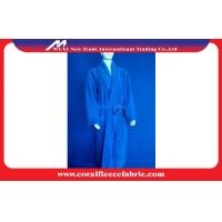 Quality Spa Men Coral Fleece Bathrobes / Customized Luxury Mens Bathrobes with Polyester for sale