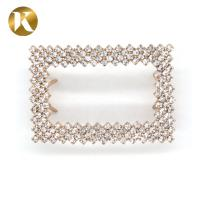 Quality Rectangle Fashion Style Shoe Ornaments Clips 60mm*40mm Zinc Alloy Material for sale