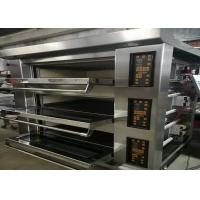 Quality Multipurpose Bakery Deck Oven 3 Deck 9 Trays Electric Gas Stainless Steel for sale