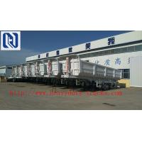 Quality Flatbed Transport Semi Trailer Trucks 2 Axle , Four Double Container Trailer for sale