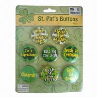 Quality Button Badges with Blister Packing, Customized Designs are Accepted, Ideal for Promotional Purposes for sale