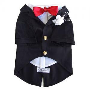 Quality Size S Black Pet Puppy Dog Cat Clothes Apparel Coats Shirts Blouse Formal Dress for sale
